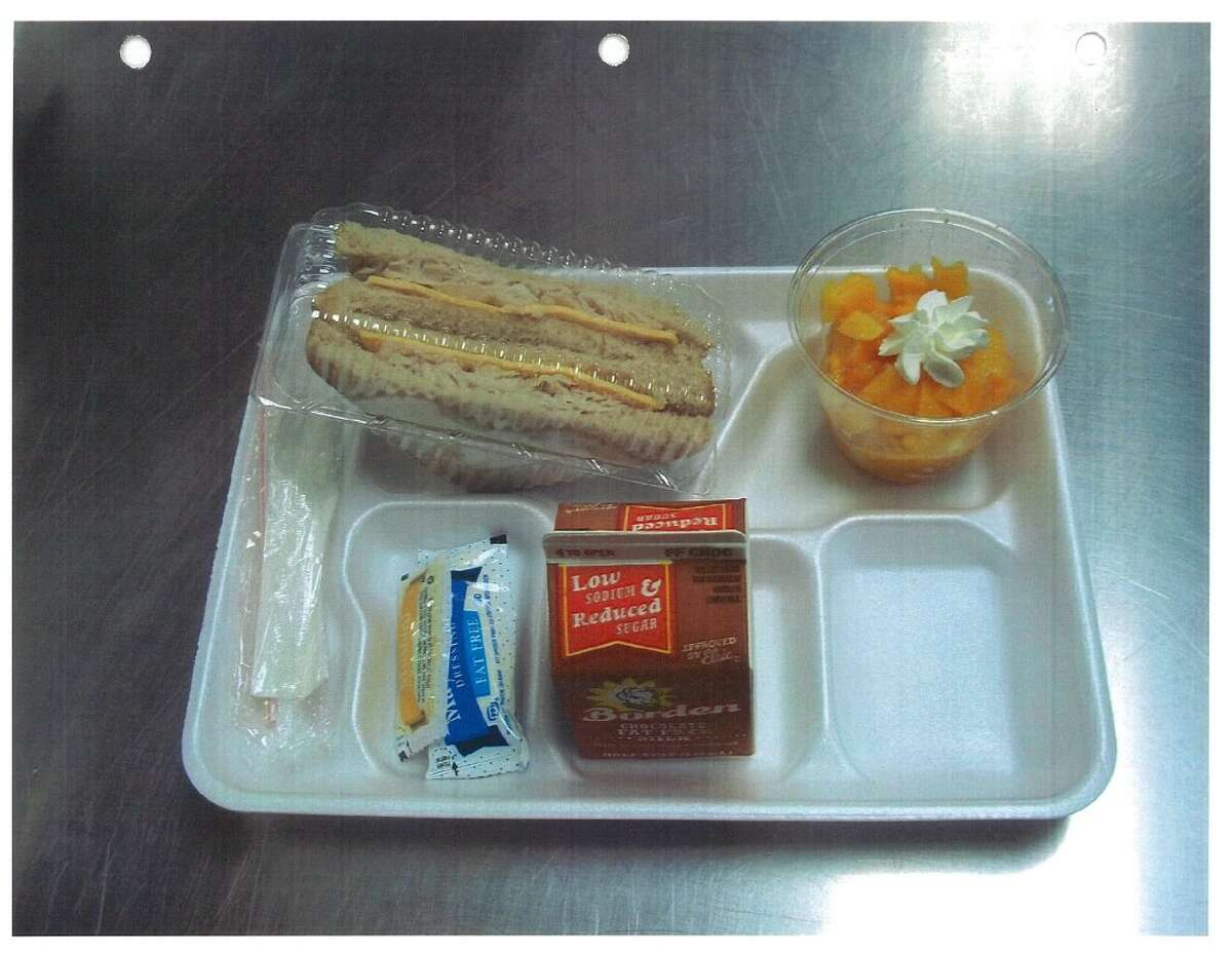 Channelview ISD students who cannot pay for their lunches receive alternate meals like this one after they charge a certain number of meals to their empty accounts.