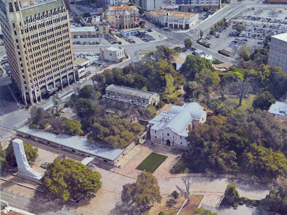 This is what Alamo Plaza looks like today. Keep clicking to see how the Alamo Plaza may look in the future. Photo: Courtesy Photo / Texas General Land Office