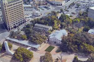 This is what Alamo Plaza looks like today.
