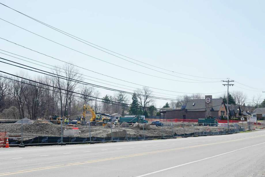 Construction work continues at the site where a  Cole's Collision Center is being built on Tuesday, April 11, 2017, in North Greenbush, N.Y.    (Paul Buckowski / Times Union) Photo: PAUL BUCKOWSKI / 20040224A