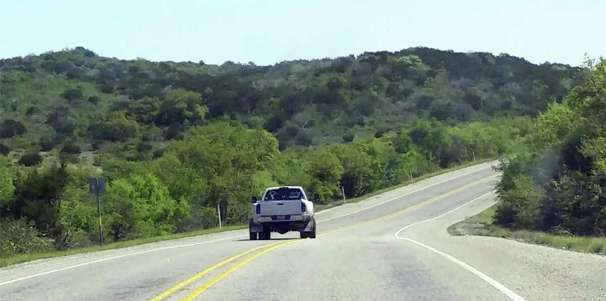 The cellphone video taken by Thania Sanchez shows Jack Young's Dodge pickup crossing both the double yellow center stripes, as well as the white line on the right of the road.