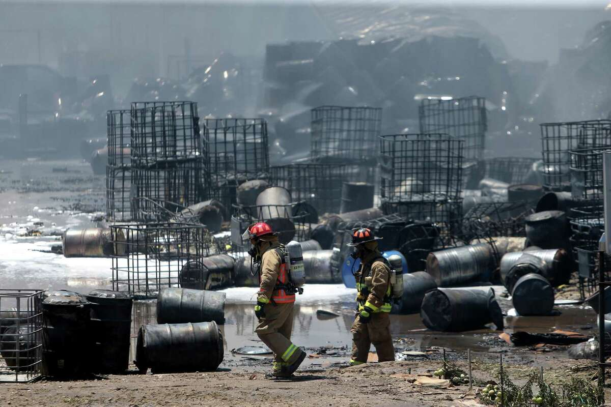 Firefighters, pictured in 2016, need an overhaul of the database containing the city's hazardous chemical locations, more training and resources in order to adequately track and prepare for fires, Fire Chief Samuel Peña said.