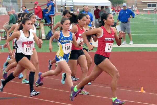 Martin's Abril Escamilla finished with a time of 11:39.04 to win the 3,200-meter run at the District 31-5A meet at Shirley Field. She is one of 10 Laredoans to already punch their tickets to the area meet.