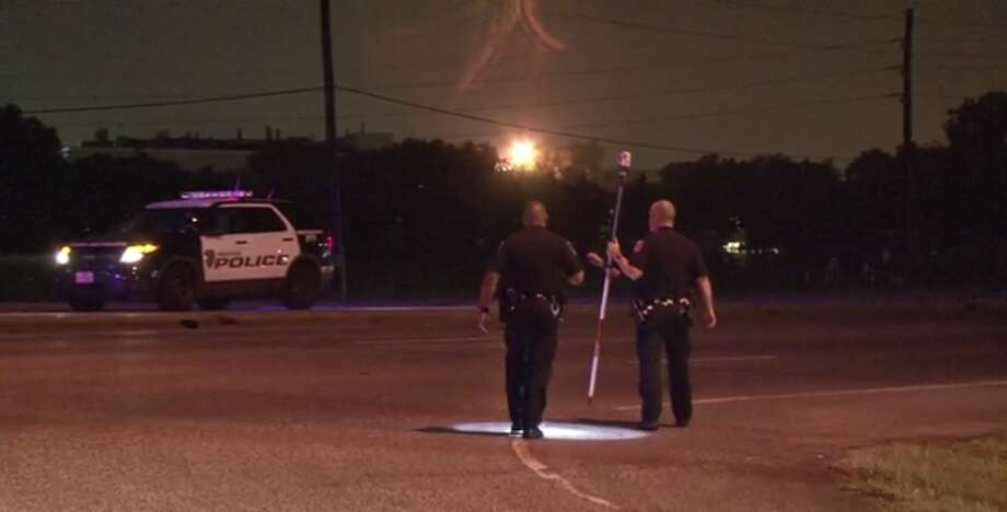 A woman is dead after she was struck by a car Tuesday night, at the intersection of Richmond and Highway 6. (Metro Video) Photo: Metro Video
