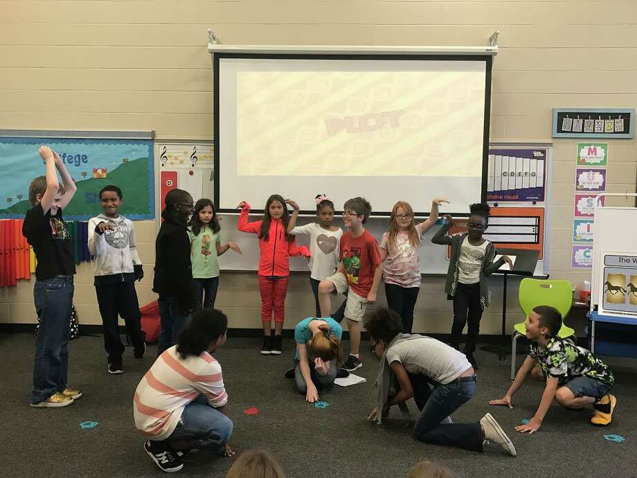 Ridge Creek Elementary Drama Club students rehearsing for their upcoming Lion King Jr. performance. Photo: Courtesy Photo