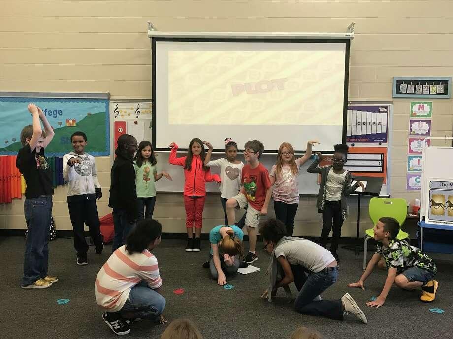 Ridge Creek ElementaryDrama Club students rehearsing for their upcoming Lion King Jr. performance. Photo: Courtesy Photo