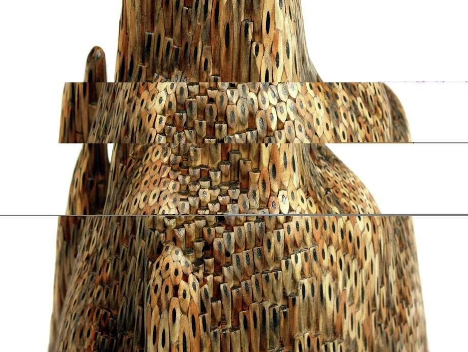 Jessica Drenk, Formation (Detail), pencils, glue credit: William Jaeger