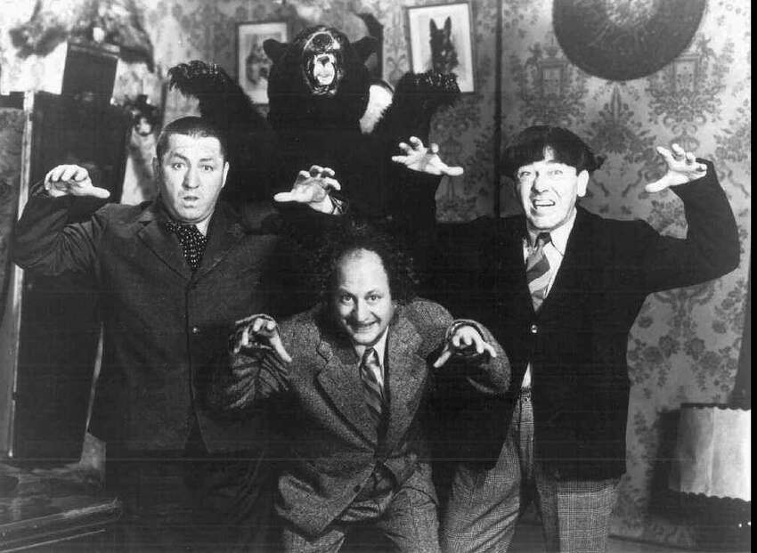 FILE--This is an undated photo of the Three Stooges in their film 'The Clown Princess of Slapstick.' Heirs of the screwball comedy trio have taken a Web site to court, claiming Comedy III Productions uses unauthorized photos, videos and other collectables, Wednesday's October 15, 1997 Daily News reports. The suit has been filed in U.S. District Court. (AP Photo/Los Angeles Daily News Copy Photo)