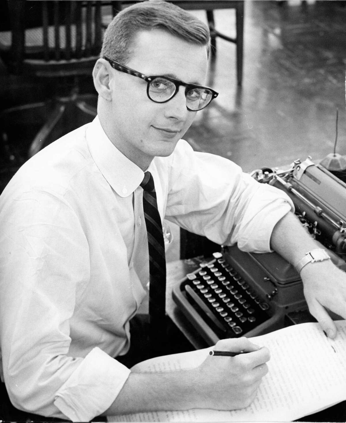 Donald Barthelme worked at the Houston Post as an entertainment reporter and critic.