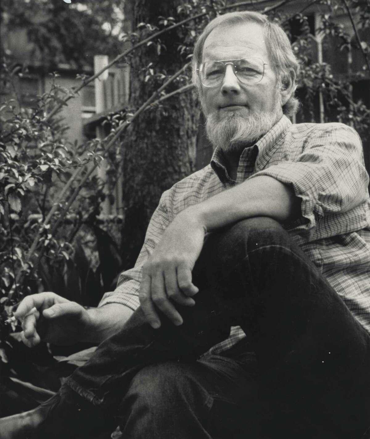 03/22/1984 - author Donald Barthelme at his Houston home.