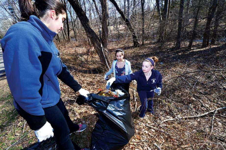 The Wilton Conservation Commission invites the community to celebrate Earth Day by participating in the annual Townwide Cleanup Day on Saturday, April 22, from 9 a.m. to 12p.m. Photo: Hearst Connecticut Media File