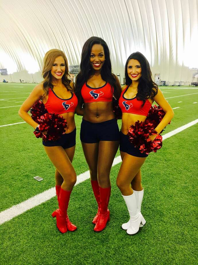 Southeast Texas natives Danielle C., Adriana S. and Olivia W. were named to the 2017 Houston Texans Cheerleaders team Tuesday evening. Photo: Photo Courtesy Of Olivia W.