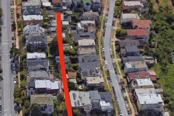 A Richmond District alley that's essentially a driveway for a block of homes is on the market for $35,000.