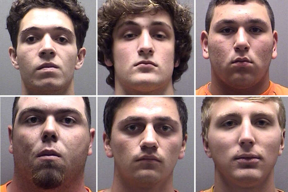 Mugshots: These student athletes have been arrested in the La Vernia High School hazing scandal. Photo: Courtesy