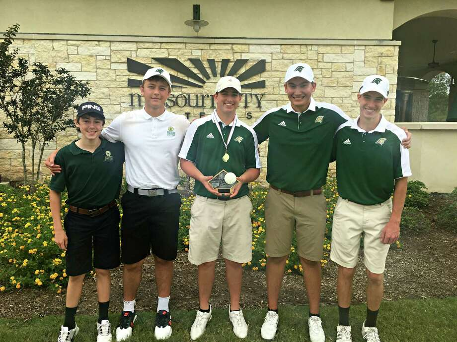 The Woodlands Christian Academy boys golf team won the TAPPS District 5-4A championship earlier this week. Photo: Submitted Photo
