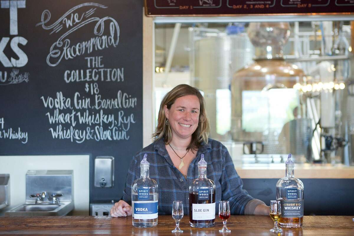 Ashby Marshall founded Spirit Works Distillery with her husband Timo. The distillery is located in Sebastopol, CA, where they distill Gin, Vodka and Whiskey.