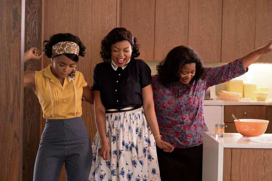 "L-r) Mary Jackson (Janelle Monae), Katherine Johnson (Taraji P. Henson) and Dorothy Vaughan (Octavia Spencer) in ""Hidden Figures."" MUST CREDIT: Hopper Stone, Twentieth Century Fox / Twentieth Century Fox"