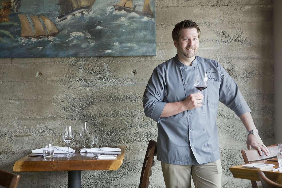 Dustin Valette, chef and longtime Healdsburg resident poses for a portrait at his restaurant Valette.