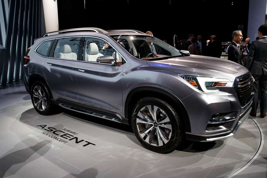 subaru unveils ascent suv concept at new york auto show. Black Bedroom Furniture Sets. Home Design Ideas