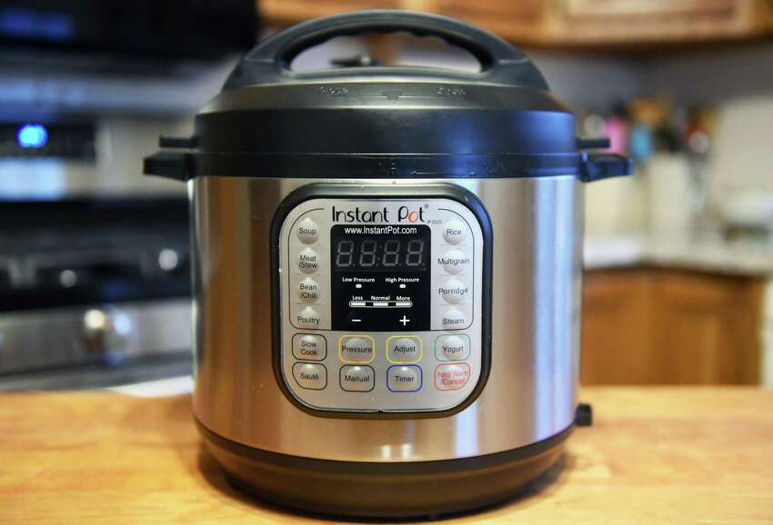 Elizabeth Barbone's Instant Pot in her kitchen Thursday April 6, 2017 in Troy, NY. (John Carl D'Annibale / Times Union)