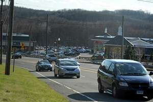 Traffic on Route 111 in Trumbull, near the border with Monroe. A consultant will discuss details of a plan for the intersection of Route 111 and Route 25.