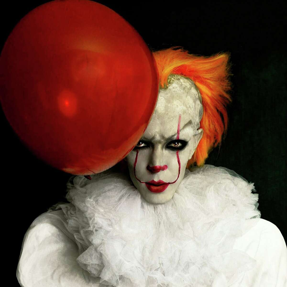 Houston drag performer Chloe Knox serves a Pennywise look from Stephen King's 'It.'