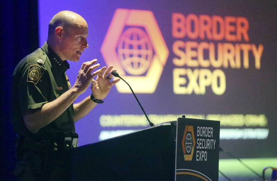 Ronald Vitiello, Chief of the U.S. Border Patrol, speaks Wednesday April 12, 2017 during the 11th annual Border Security Expo at the Henry B. Gonzalez Convention Center. Vitiello adressed pressing issues on the border such as the new administration in Washington and the Border Patrol itself. Photo: John Davenport, STAFF / San Antonio Express-News / ©San Antonio Express-News/John Davenport