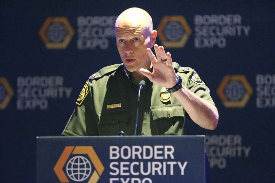 Ronald Vitiello, Chief of the U.S. Border Patrol, speaks Wednesday April 12, 2017 during the 11th annual Border Security Expo at the Henry B. Gonzalez Convention Center.  Photo: John Davenport, STAFF / San Antonio Express-News / ©San Antonio Express-News/John Davenport