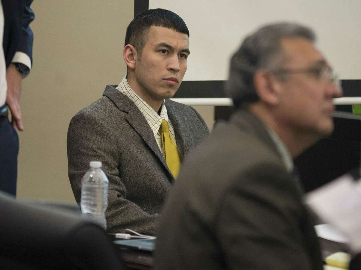 File Photo-Defendant Miguel Martinez sits in the courtroom during opening remarks of his trial for the January 2015 murder of Laura Carter, Wednesday, Feb. 8, 2017, in the 437th District Court in San Antonio. (Darren Abate/For the San Antonio Express-News)