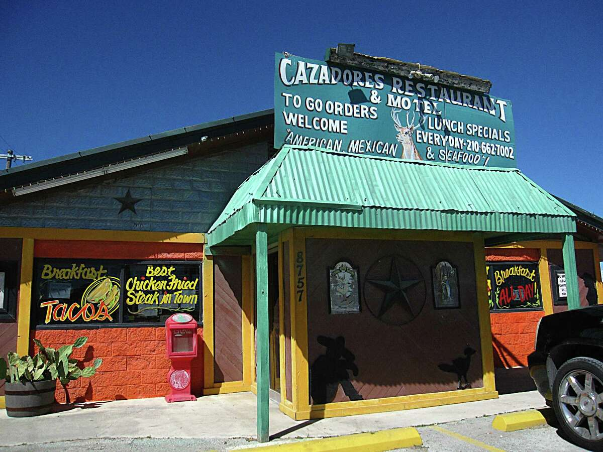 CAZADORES RESTAURANT & MOTEL: 8757 IH 10 E San Antonio, TX 78109 Date: 07/02/2018 Score: 80 Highlights: Food employees shall wash hands with hot water, soap for at least 20 seconds, liquid butter stored in water bottles, prevent cross contamination by storing foods in packages, covered containers or wrappings, thoroughly clean under/behind all food equipment, vents and piping, do not store knives between tables and wire racks.