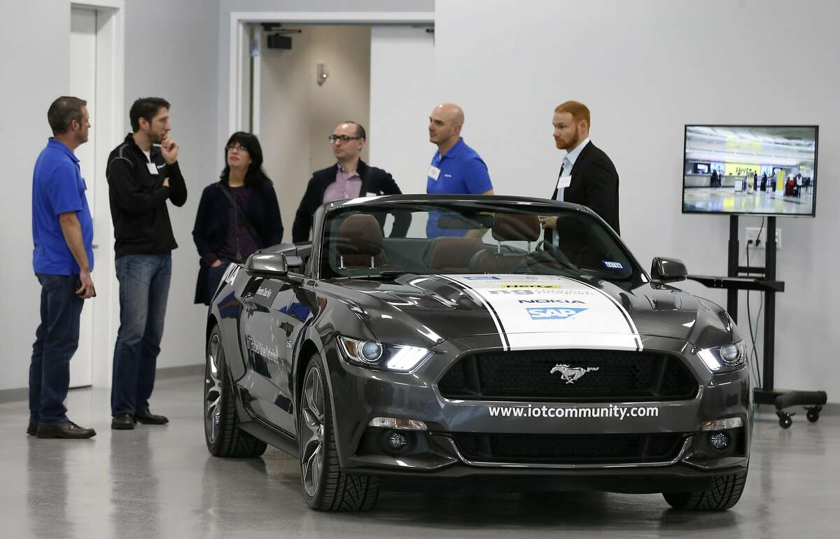 Technicians offer a tour of the vehicle development lab at the Continental Silicon Valley Research and Development Center for automotive technology in San Jose on Wednesday.