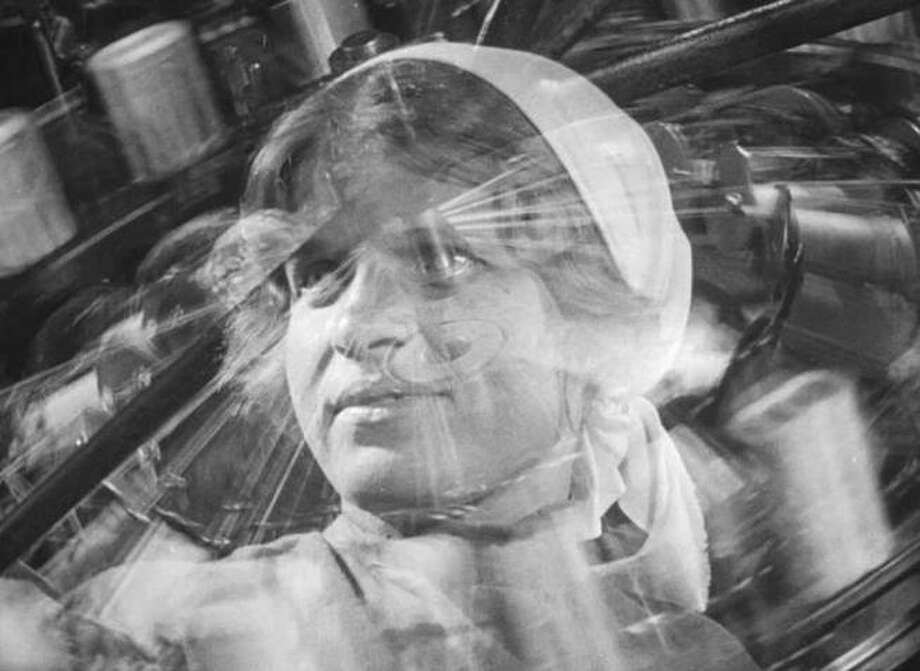"A scene from Dziga Vertov's 1929 Soviet film ""Man With a Movie Camera."""