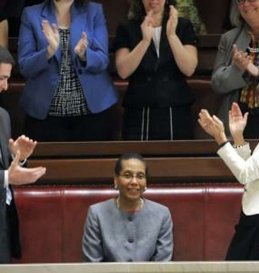 Sheila Abdus Salaam in June 2013, as the state Senate confirmed her nomination to the Court of Appeals. (Paul Buckowski, Times Union)