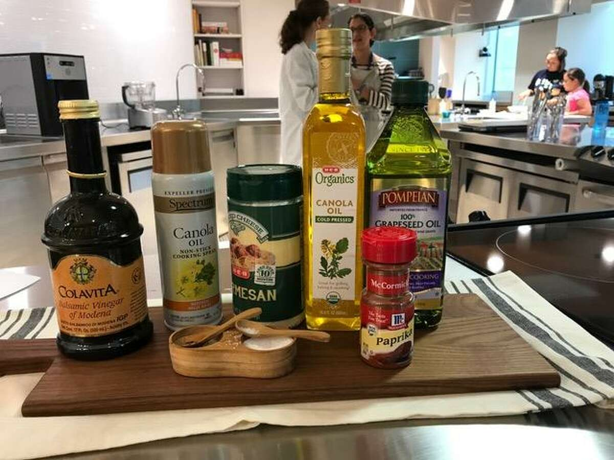 Several of the good-for-you ingredients used during a recent cooking class at Children's Hospital of San Antonio
