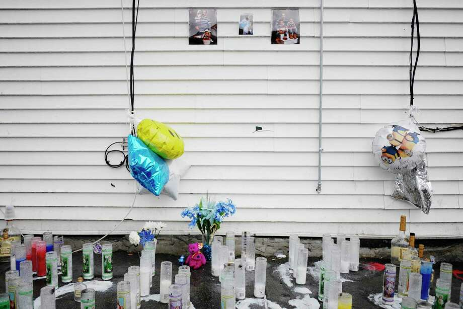 A memorial set up for Christopher J. Hardy is seen near the intersection of First Street and Quail Street on Wednesday, April 12, 2017, in Albany, N.Y.  Hardy was shot on Saturday.    (Paul Buckowski / Times Union) Photo: PAUL BUCKOWSKI / 20040233A