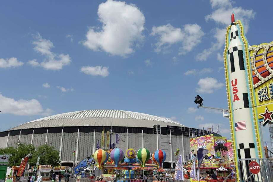 The Astrodome, shown near the carnival during the Houston Livestock Show and Rodeo last month, has been designated as a State Antiquities Landmark. Photo: Melissa Phillip, Staff / © 2017 Houston Chronicle