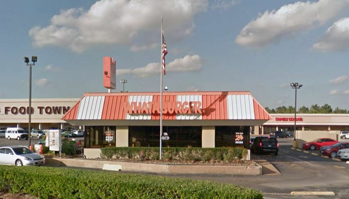 Whataburger #134  444 Little York Rd., Houston, TX 77076 Demerits: 19 Inspection Highlights: Condemned approximately 1,200 pounds of ice, contaminated by black residue at chute and under the ice-maker, and pink slime under the ice cover. Week of April (3-12)