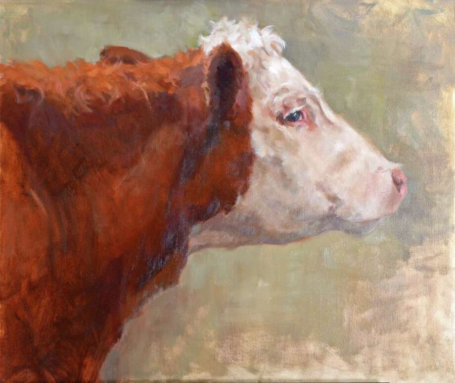 "Minor Memorial Library in Roxbury will open an exhibit and sale of oil paintings by Melody Asbury with a reception April 22 from 2 to 4 p.m. The show, ""Animals Among Us,"" will run through June 3. The show, which will include Asbury's ""Cow in Profile,"" above, may be seen at the South Street gallery Mondays from noon to 7 p.m., Wednesdays from 10 a.m. to 5 p.m., Thursdays from noon to 5 p.m., Fridays from 10 a.m. to 5 p.m. and Saturdays from 10 a.m. to 2 p.m. For more information, call 860-350-2181. Photo: Courtesy Of Minor Memorial Library"