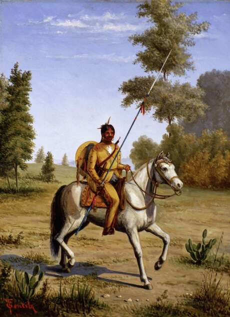 Painting of Comanche Chief by Theodore Gentilz, ca. 1890s Photo: Courtesy Witte Museum Collection / Witte Museum Collection