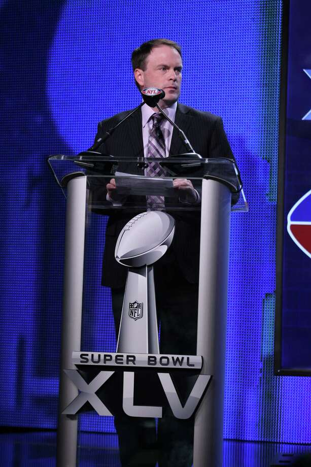 DALLAS, TX - FEBRUARY 03:  Brian McCarthy of the NFL speaks at the Bridgestone Super Bowl XLV Halftime Show press conference on February 3, 2011 in Dallas, Texas.  (Photo by Christopher Polk/Getty Images) *** Local Caption *** Brian McCarthy Photo: Christopher Polk / 2011 Getty Images