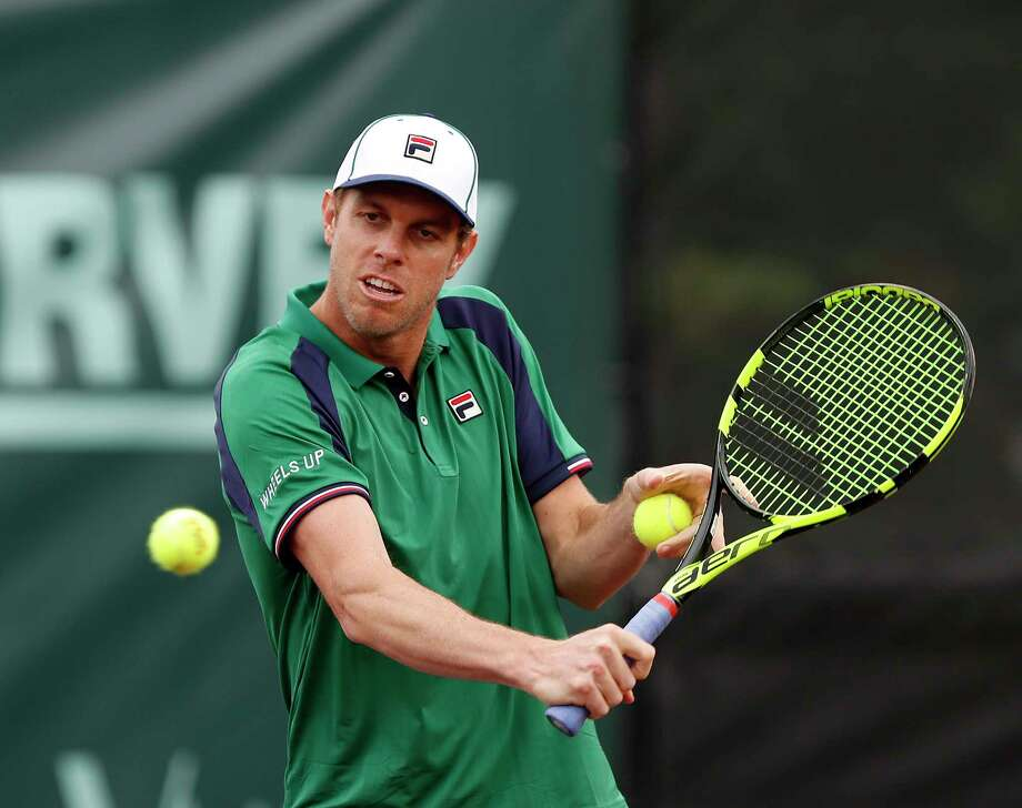 Sam Querrey warms up before his doubles match Wednesday at the  River Oaks Country Club. Photo: Karen Warren, Staff Photographer / 2017 Houston Chronicle