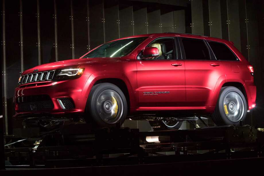 The Jeep 707-horsepower Grand Cherokee Special is on display during a media preview at the New York International Auto Show, at the Jacob Javits Center in New York, Wednesday, April 12, 2017. (AP Photo/Mary Altaffer) ORG XMIT: NYMA112 Photo: Mary Altaffer / Copyright 2017 The Associated Press. All rights reserved.