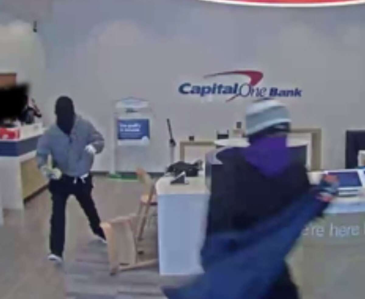 The FBI is searching for five men who robbed a Capital One Bank in West Houston on April 12, 2017.