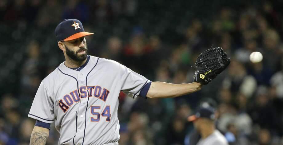 Mike Fiers is gets the start on Friday for the first time since April 12 in Seattle. Photo: Elaine Thompson/Associated Press