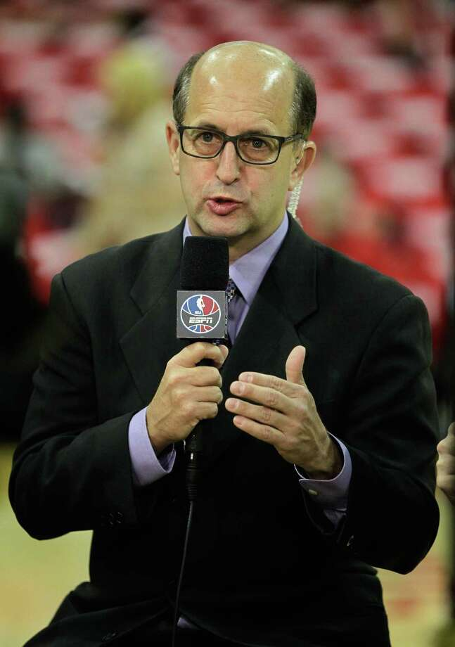 Jeff Van Gundy declines to vote on the NBA's MVP award, believing the job would be better served by league personnel and not media. Photo: Bob Levey, Contributor / 2015 Getty Images