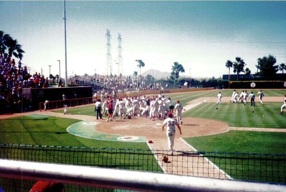 With the Pac-10's Southern Division title on the line in 1994, Stanford and Arizona State engaged in a memorable brawl before the Cardinal prevailed in 11 innings. Photo: Courtesy Of Todd LaRocca