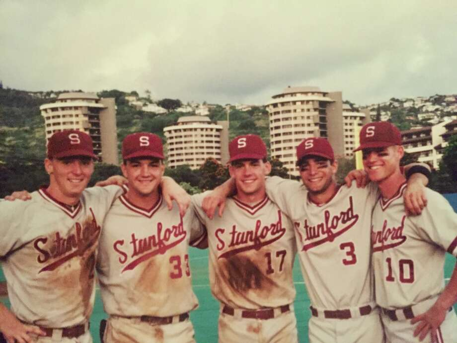 Steve Carter, Dusty Allen, AJ Hinch, Todd LaRocca and Jed Hansen in Hawaii in 1994.  Photo: Courtesy Of Todd LaRocca