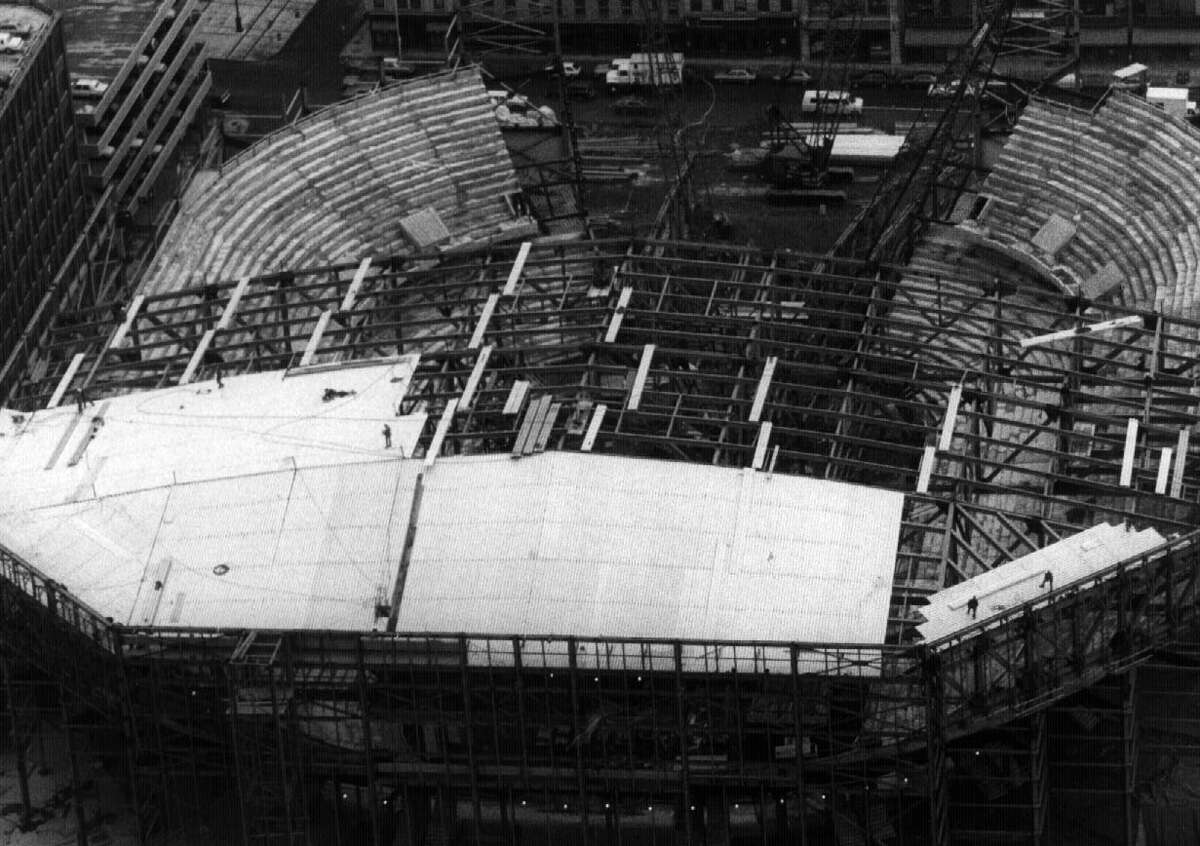 Click through the slideshow to see how Times Union Center has evolved from the Knickerbocker to the Pepsi to what it is today .