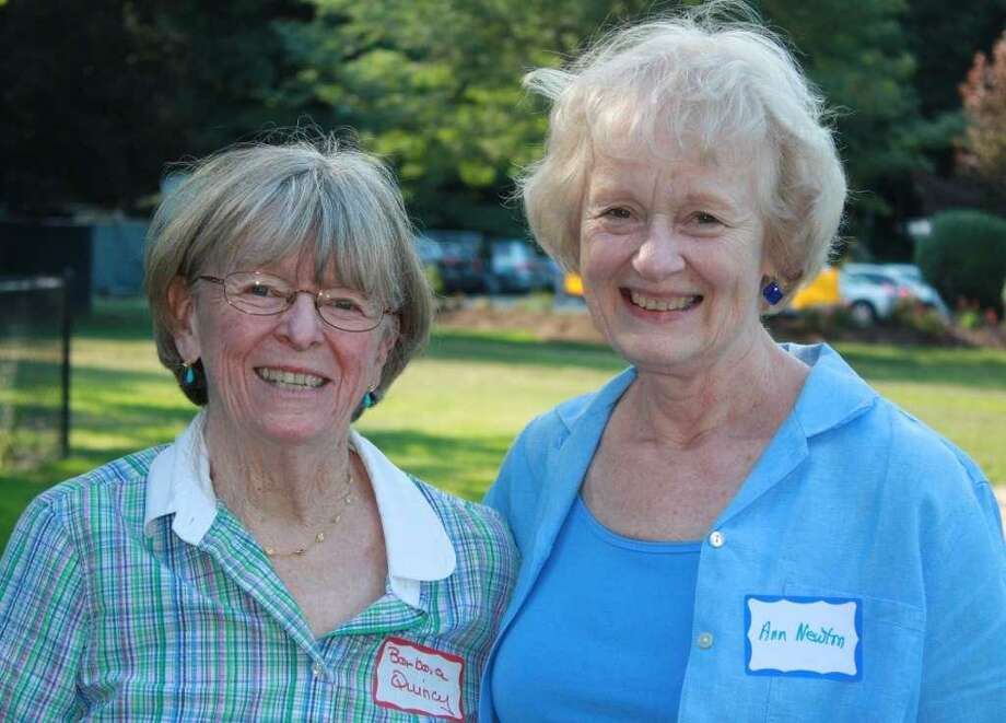 Barbara Quincy, left, with Ann Newton, both of Wilton. Photo: Contributed Photo