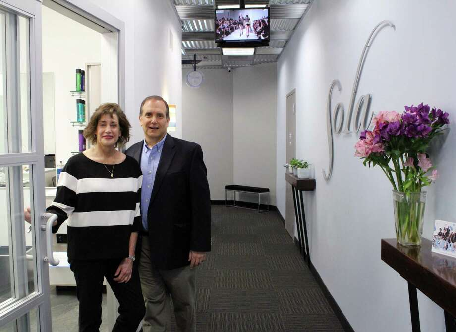 Westport couple, Holly and Rich Bobrow, opened their second Sola Salon Studios in Wilton at 5 River Road. Photo: Stephanie Kim / Hearst Connecticut Media